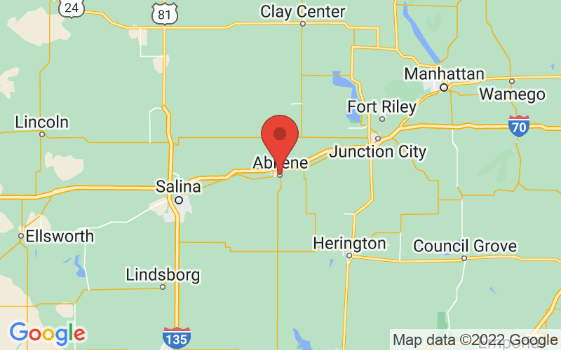 Map of Abilene, KS