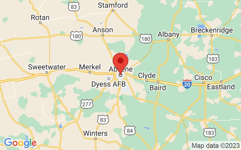 Map of Abilene, TX US