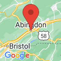 Map of Abingdon, VA US