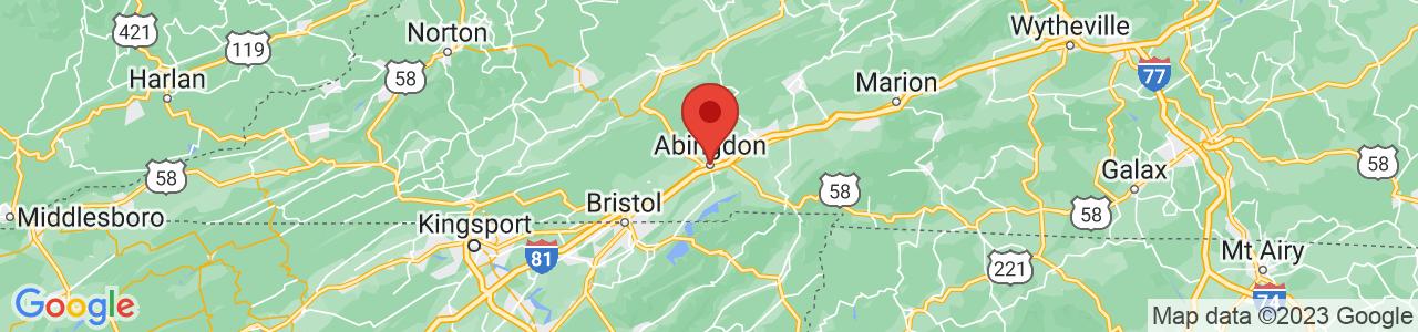 Map of Abingdon, VA