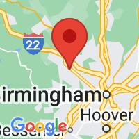 Map of Adamsville AL US
