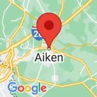 Map of Aiken, SC US