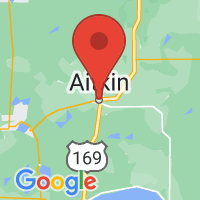 Map of Aitkin, MN
