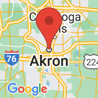 Map of Akron OH US