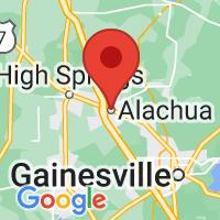 Map of Alachua FL US