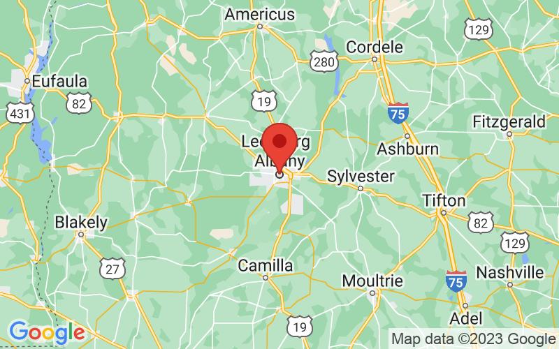 Map of Albany, GA US