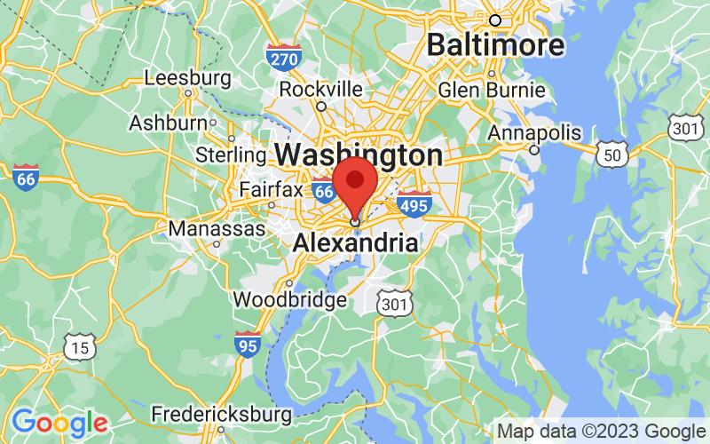 Map of Alexandria, VA US