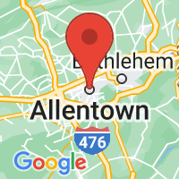 Map of Allentown, PA US