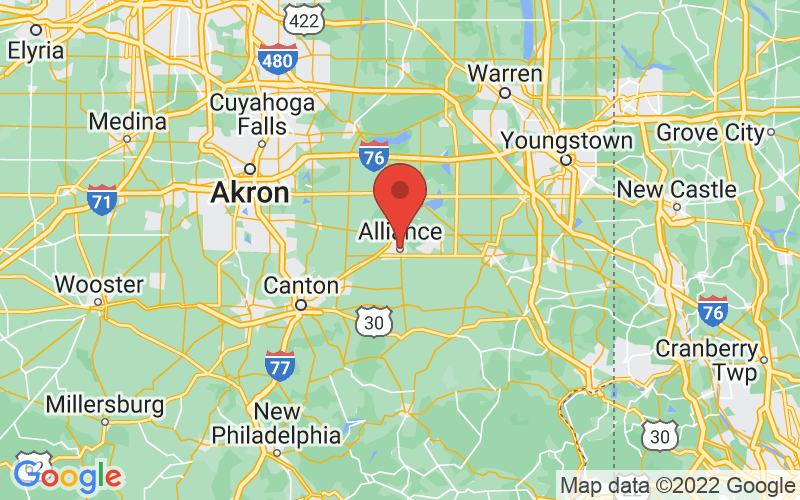 Map of Alliance, OH