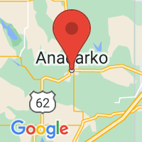 Map of Anadarko, OK