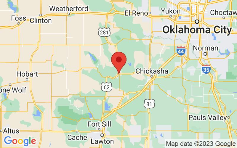 Map of Anadarko, OK