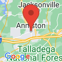 Map of Anniston, AL US