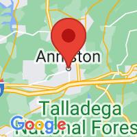 Map of Anniston, AL