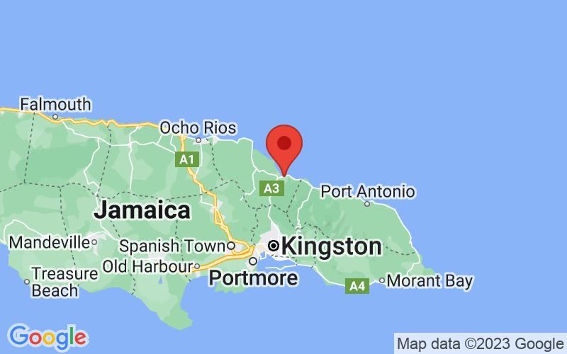 Map of Annotto Bay, JM JM