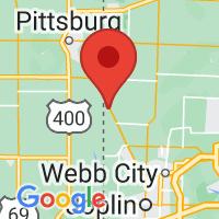 Map of Asbury, MO
