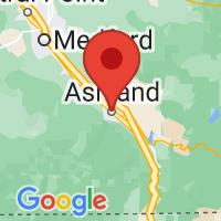 Map of Ashland, OR US