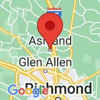 Map of Ashland, VA