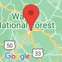 Map of Athens, OH US