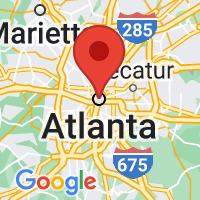 Map of Atlanta GA US