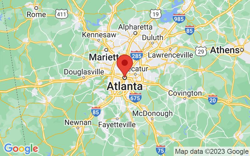 Map of Atlanta, GA US