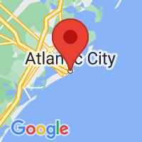 Map of Atlantic City, NJ US