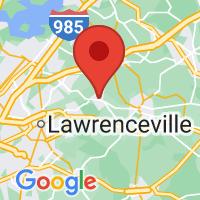 Map of Auburn GA US