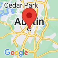 Map of Austin TX US