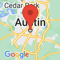 Map of Austin, TX US
