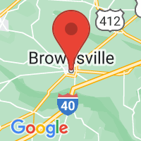 Map of BROWNSVILLE TN US