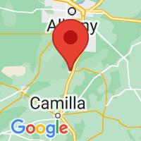 Map of Baconton, GA