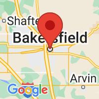 Map of Bakersfield, CA US