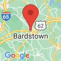 Map of Bardstown, KY