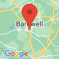 Map of Barnwell, SC US