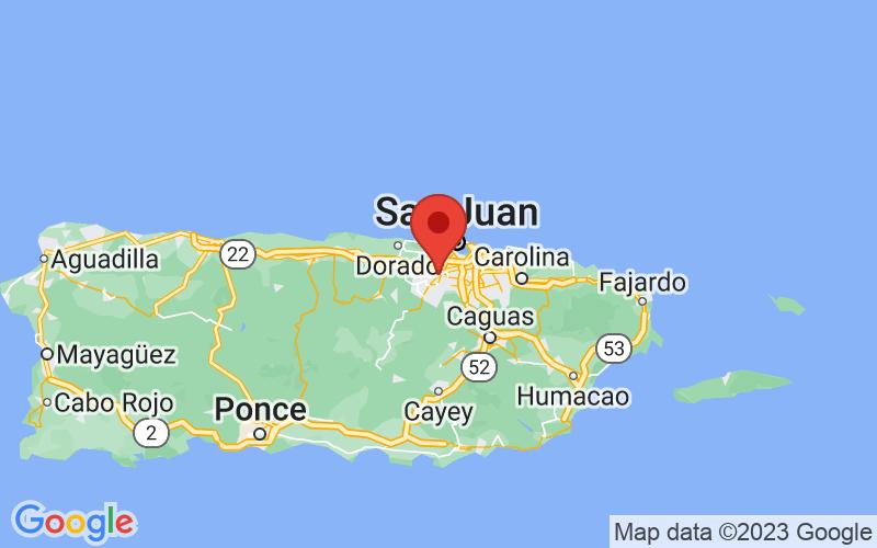 Map of Bayamon, PR US