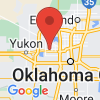 Map of Bethany, OK