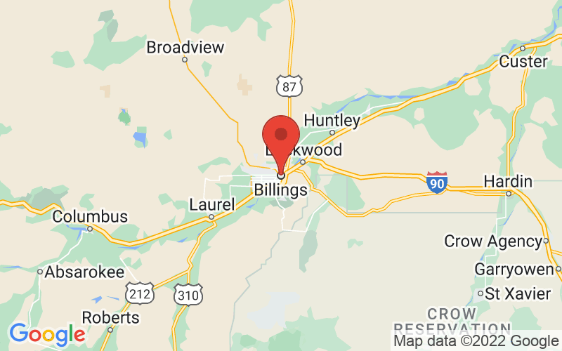 Map of Billings, MT US
