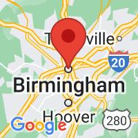 Map of Birmingham Alabama