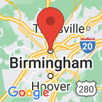 Map of Birmingham, AL US