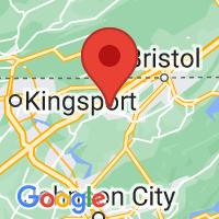 Map of Blountville, TN US