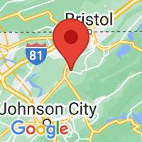 Map of Bluff City, TN