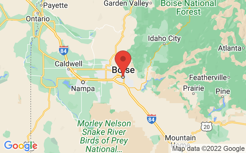 Map of Boise, ID US