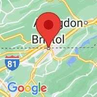 Map of Bristol, TN US