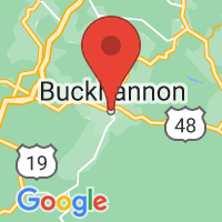 Map of Buckhannon, WV US
