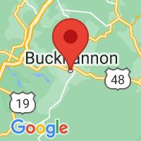 Map of Buckhannon, WV