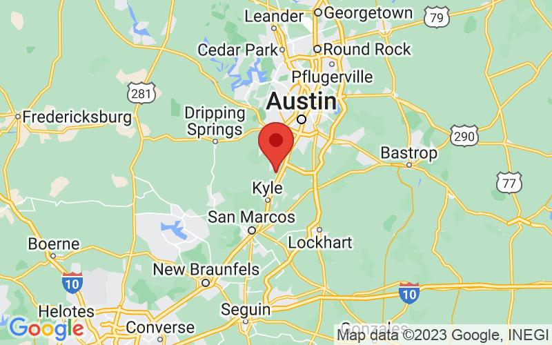 Map of Buda, TX