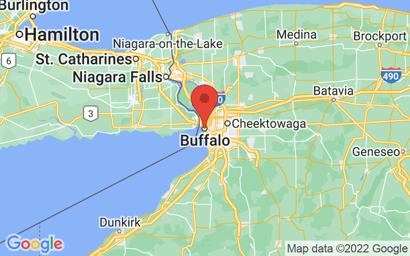 Map of Buffalo, NY US