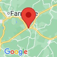 Map of Burkeville, VA