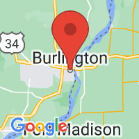 Map of Burlington, IA US