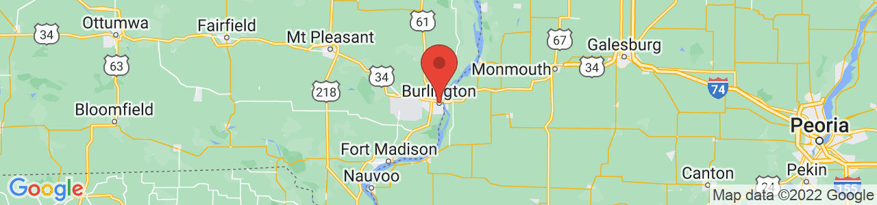 Map of Burlington, IA