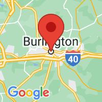 Map of Burlington, NC